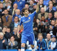 ~ Oscar of Chelsea FC celebrating his goal against Swansea City ~