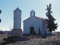 Cinco Olivas, Zaragoza (Spain). Ermita de san José y pilón de san Blas