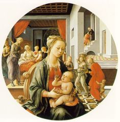 Fra Filippo Lippi Famous Paintings | this is only a thumbnail image use the to study the much larger full ...