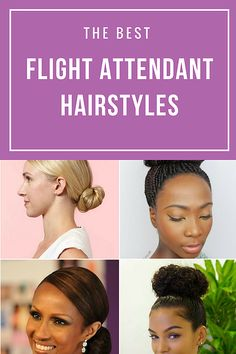 The Best Flight Attendant Styles for ALL Hair Types | Ebony Christina | How To Become a Flight Attendant
