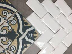 Subwaytile  FS2 by @peronda_group una combinación perfecta para espacios únicos. #subwaytile #hidraulictiles #tiles  #tiletrends #ihavethisthingwithtiles #welovetiles #tileaddiction #spanishtile by mosagres