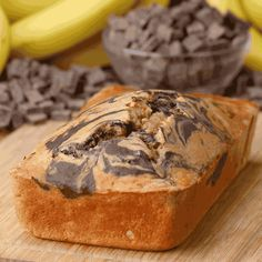 Mmmm, healthy banana bread! | This Dark Chocolate Swirl Banana Bread Takes Banana Bread To The Next Level