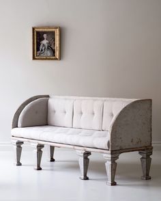 Remarkable 19th century Gustavian sofa inspired by the roman empire.