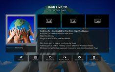 Kodi Live TV  IPTV zadarmo. Kodi Live Tv, Smart Tv, Tvs, Tv