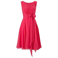 Buy Phase Eight Marti Chiffon Dress, Magenta Online at johnlewis.com