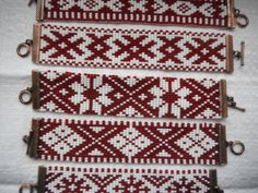 Latvian traditional designs traditionally hand woven Rokassprādze~Bracelets
