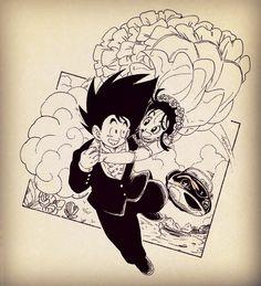 Dragon Ball Gt, Dragon Art, Manga Drawing, Manga Art, 2000s Cartoons, Goku Manga, Goku And Chichi, Popular Manga, Le Chef