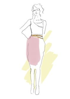 Fashion illustration for Bolongaro Trevor
