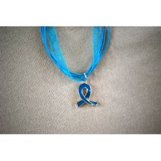Ovarian Cancer Ribbon Necklace