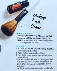See this Instagram photo by @jaclyngwhite DoTerra makeup brush cleaner with On Guard Essential Oil