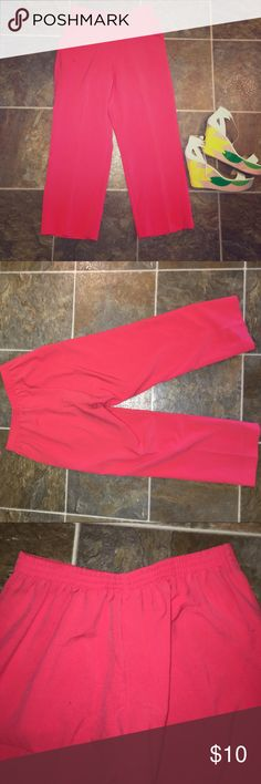 💋 ALFRED DUNNER Coral Dress Pants (Petite) These versatile, creased dress pants are comfortable, stretchable, and structured. Pair these with some cute, statement wedges! Product details: machine wash cold, cool iron if necessary, tumble dry low, excellent condition, 74% polyester, 22% rayon, 4% spandex, stretchy waistband, no damages, lightly worn, full pockets (left side, right side), comfortable fit! Thank you 🌞 Alfred Dunner Pants Trousers