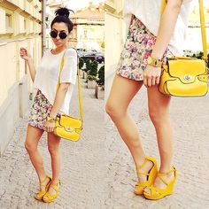 Flower skirt (by Pam S) http://lookbook.nu/look/3544243-flower-skirt