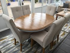 Oval Round Dining Table And 6 Chairs in Home, Furniture & DIY, Furniture, Tables   eBay!