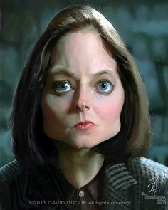Jodie Foster   (by David Duque-Spain) #caricatures