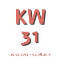 Die Aktuelle KW - Kalenderwoche heute ist die KW 31 und geht von 29.07.2013 - 04.08.2013
