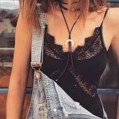Stagecoach ready in the Iris Bodysuit and Bolo Tie Choker from our @jacquieaiche collaboration  #forloveandlemons #downtoyourskivvies #JAxFLL
