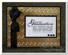 Masculine grad card with metal.