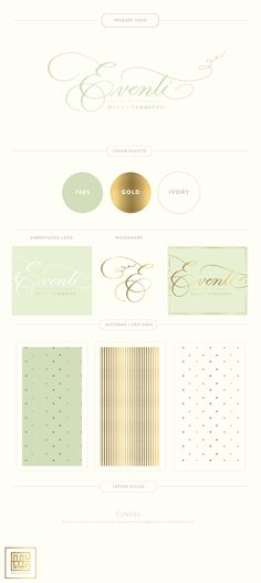 Branding Design for Eventi by Diana Venditto |  www.EmilyMcCarthy.com | Logo, Wedding Planning and Design