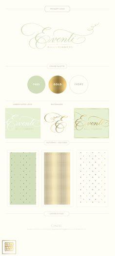 Branding Design for Eventi by Diana Venditto    www.EmilyMcCarthy.com   Logo, Wedding Planning and Design