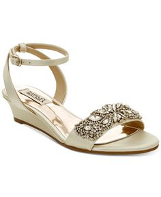 1bbd11046976 Badgley Mischka Hatch Wedge Evening Sandals   Reviews - Sandals   Flip Flops  - Shoes - Macy s
