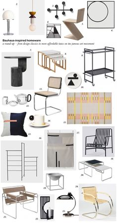 Get the look: Bauhaus interiors – 24 Bauhaus-inspired designs – Furniture Makeover & Furniture Design Bauhaus Interior, Bauhaus Furniture, Modular Furniture, Diy Furniture Projects, Furniture Layout, Furniture Arrangement, Furniture Makeover, Modern Furniture Design, Metal Furniture