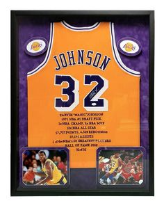 07ffcfd9a18 ... Magic johnson signed lakers jersey framed d3232 jsa coa autograph lakers  ...