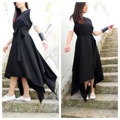 Womens Tunic Dress Plus Size Tunic Dress Linen Dress A by Fraktura Vestiti  Di Dimensioni Particolari bf07a8576362