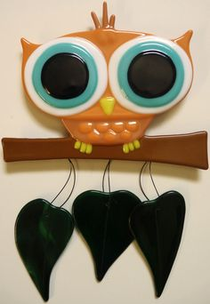 Fused Glass Owl. $45.00, via Etsy.