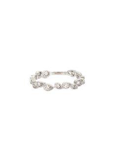 Stone white gold and white diamonds Whisper phalanx ring