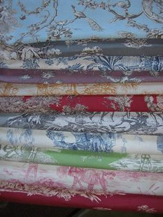 fabric toile de jouy pieces fat quarters 18 by chatochicfrance, £4.00