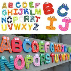 4fe4a9844c 3.87AUD - Nice 26Pcs Letters A-Z Kids Wooden Alphabet Fridge Magnet Child  Educational Toys #