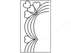Quilting Creations International Stencils are useful in so many ways. Use them for quilting, on walls, curtains, furniture, or clothing. Made from plastic, they can be used over and over again, and can be easily cleaned using soap and water. Heart Swag Border Stencil has curved swag with hearts in between scallops and on the corner detail. 3 1/2 inches.