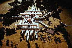 Model of Tougaloo College Master Plan. Gunnar Birkerts, November 1966. Photo:Bentley Historical Library. Source: http://curbed.com/archives/2015/07/15/tougaloo-gunnar-birkerts-campus-masterplan.php