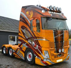 Guldager Custom Big Rigs, Custom Trucks, Show Trucks, Big Trucks, Volvo Trucks, Pickup Trucks, Truck Paint Jobs, Cab Over, Truck Art