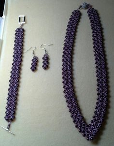 Plum and Amethyst Empress Collar set
