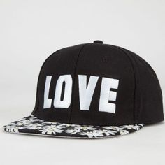 c9b64d66900 Daisy Love Hate Womens Snapback Hat Black Snapback