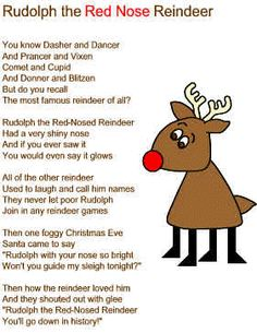 christmas song lyrics rudolph the red nosed reindeer - Christmas Songs Rudolph The Red Nosed Reindeer