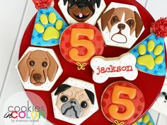 I want to reach out and touch their noses! What kind of dog would you like to see in cookie form? What Kind Of Dog, My Sister In Law, Kinds Of Dogs, Touch, Cookies, Party, Color, Biscuits, Colour