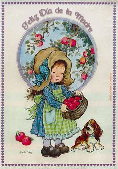 a Sarah Kay Sarah Key, Vintage Pictures, Pretty Pictures, Fairy Coloring, Raggedy Ann And Andy, Decoupage Vintage, Holly Hobbie, Whimsical Art, Cute Illustration