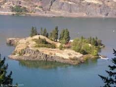 Eighteenmile Island in oregon on the columbia river gorge