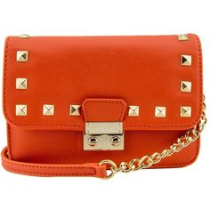 Amy Studded Mini Crossbody (£4.81) ❤ liked on Polyvore featuring bags, handbags, shoulder bags, studded crossbody purse, crossbody handbags, mini handbags, mini crossbody and shoulder strap bags