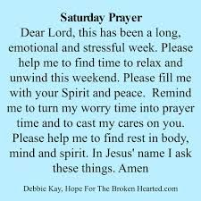 Image result for saturday prayer