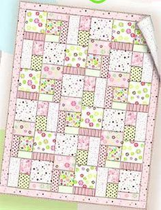 Soft colors and fabrics can be used when sewing this simple baby quilt and small pillow. Choose from boy's or girl's colors, or make it neutral with nursery flannel greens and yellows. After many years online, this quilt pattern is no longer available. Quilt Baby, Baby Girl Quilts, Girls Quilts, Rag Quilt, Quilt Top, Baby Quilt For Girls, Quilt Blocks, Baby Patchwork Quilt, Crochet Quilt