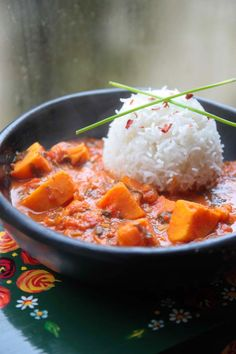 A2K - A Seasonal Veg Table: African Sweet Potato, Kidney Bean Groundnut Curry