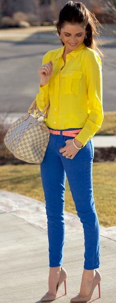 color pop Street fashion ♥✤ | Keep the Glamour | BeStayBeautiful