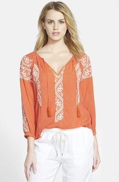 Hinge  Embroidered Top available at #Nordstrom
