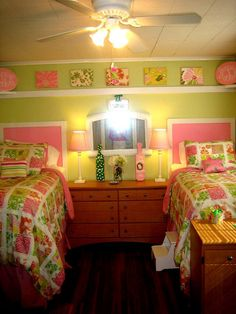 lilly bedroom! I have to have a lilly room in my house! love the bedding