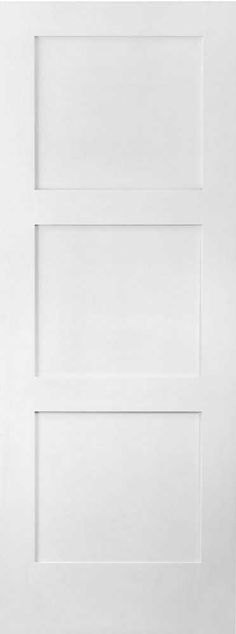 3 panel white shaker door | Baseboards and Casings with Shaker Style Interior doors - Remodeling ...