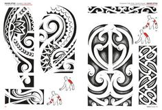 Polynesian Tribal Tattoo Drawings | Maori Tattoos