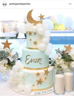 Baby Shower Cake Baby Showers Twinkle Likes, 31 Comments – Pretty Posh Parties®️ ( Baby Shower Cakes Neutral, Mint Baby Shower, Elephant Baby Shower Cake, Baby Shower Cakes For Boys, Baby Boy Cakes, Star Baby Showers, Gold Baby Showers, Baby Shower Parties, Baby Shower Themes